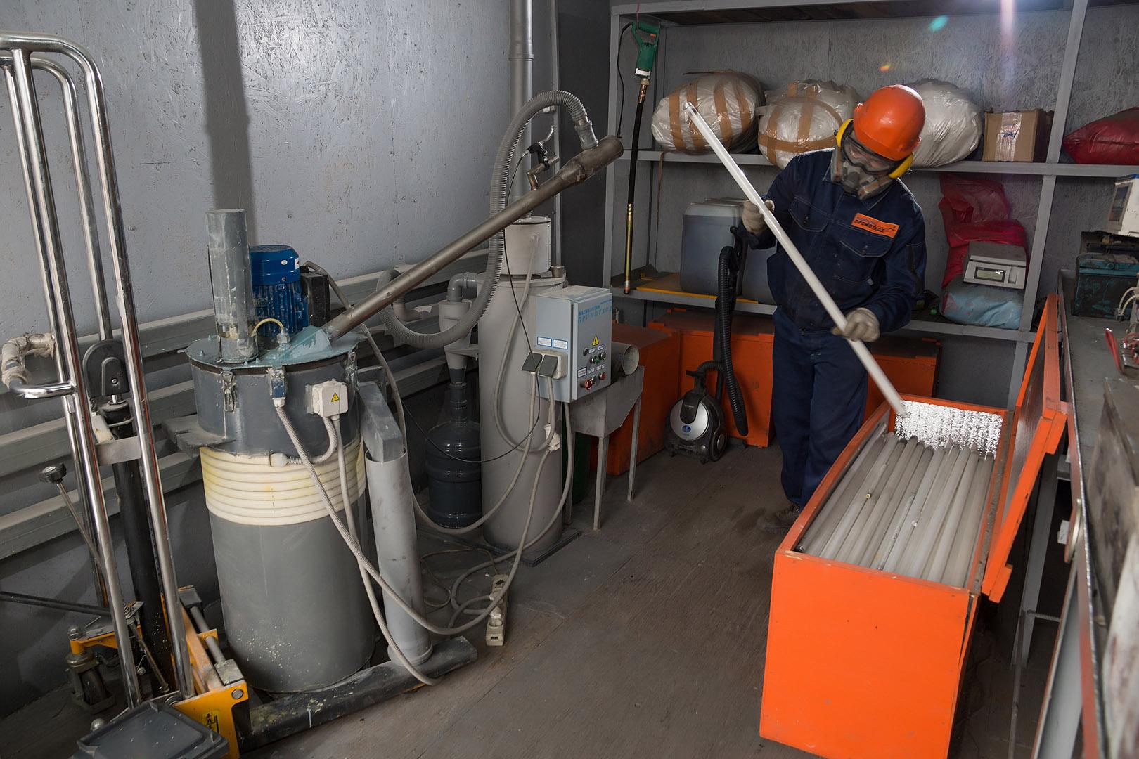 Обезвреживание ртуть содержащих отходов
