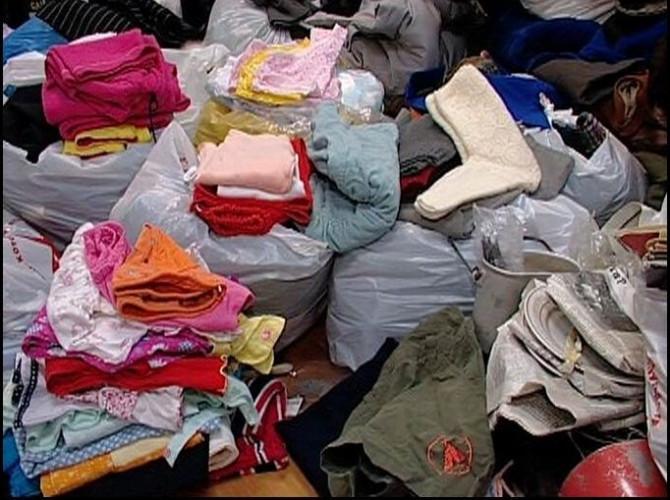 Сбор у населения одежды